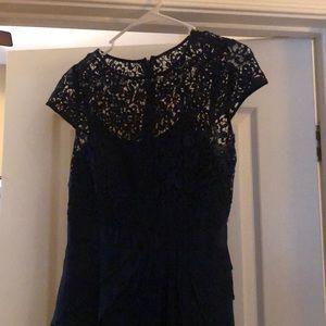Adriana Papell Navy Dress Size 4